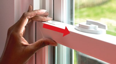 How to Remove and Replace the Sash on Your Double-Hung Windows - Step 1: Unlock Window