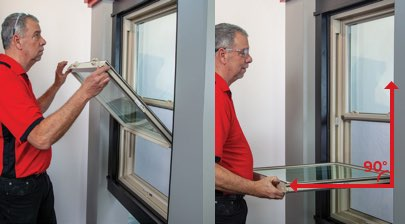 How to Remove and Replace the Sash on Your Double-Hung Windows - Step 2: Pull Up the Sash