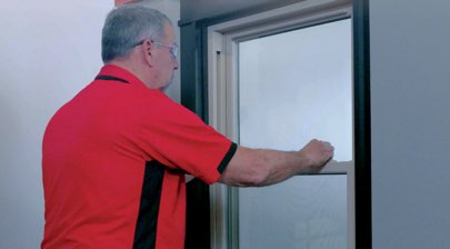 How to Remove and Replace the Sash on Your Double-Hung Windows - Step 6: Slide Sash Down