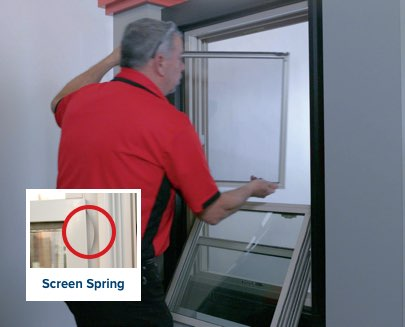 How to Remove and Replace the Screen on Your Double-Hung and Sliding Windows - Step 2: Push Screen to the Side