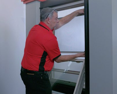 How to Remove and Replace the Screen on Your Double-Hung and Sliding Windows - Step 3: Reinsert Screen