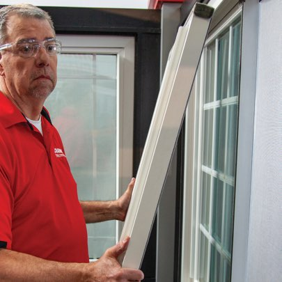 How to Remove and Replace the Sash on Your Sliding Windows - Step 3: Pull Out of Top Track