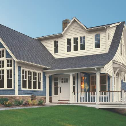 Photo of home with shake siding