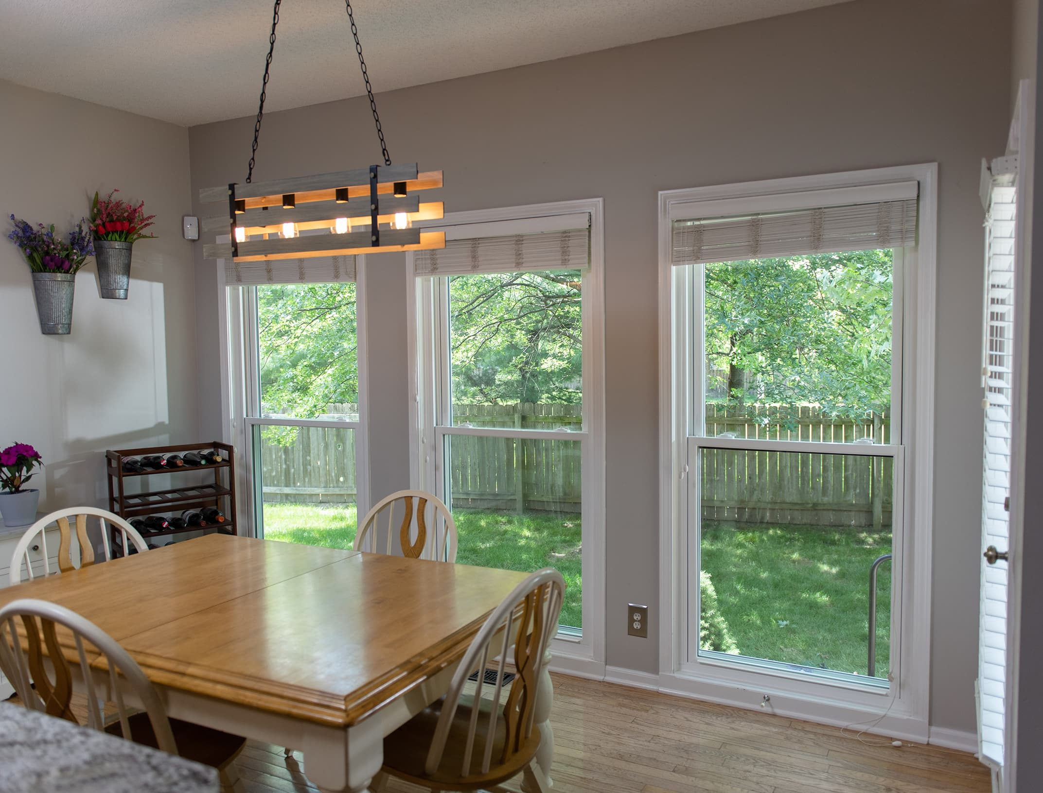 Champion White Double Hung Windows With A Colonial Grid Pattern