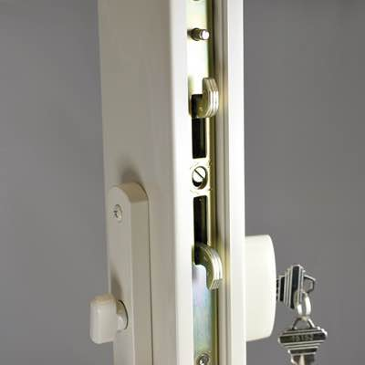 Patio door dual direction lock diagram