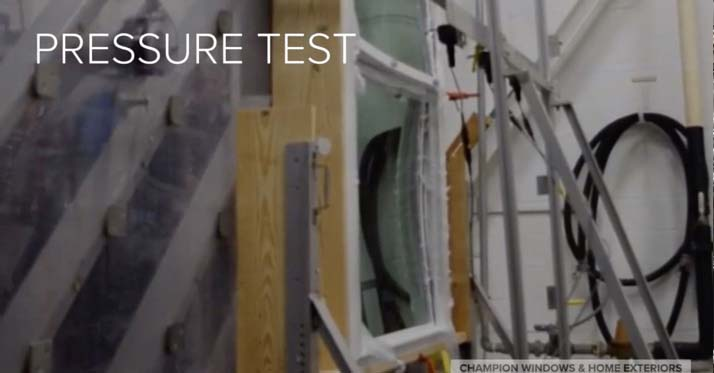 Pressure testing windows