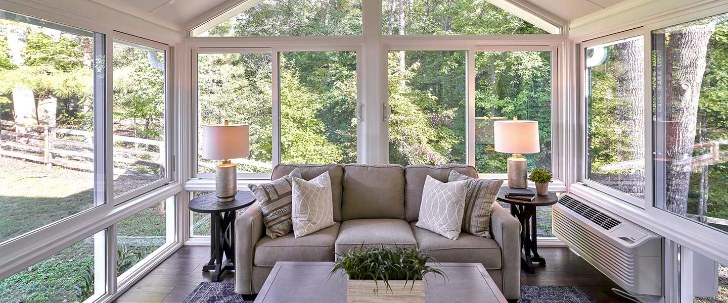 Photo of the interior of the contest winners new sunroom