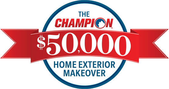 The Champion $50,000 Home Exterior Makeover Logo