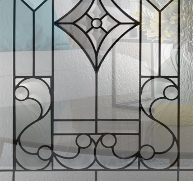 Charleston Style Entry Door Glass